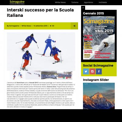 Interski successo per la Scuola Italiana