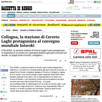 Collagna, la stazione di Cerreto Laghi protagonista al convegno mondiale Intersk